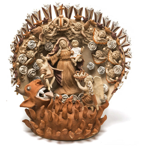 El Bien contra el Mal / Ceramics Mexican Folk Art Clay