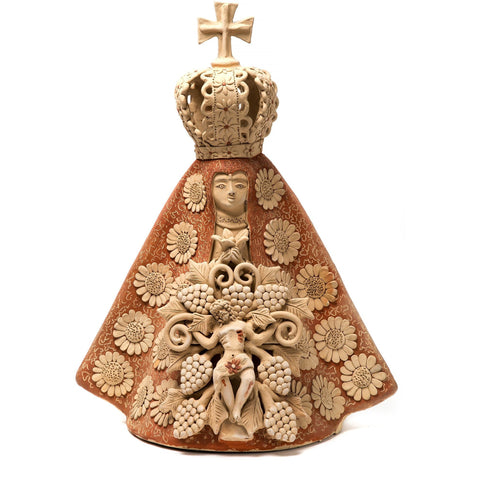 Virgen de la Soledad con Cristo / Ceramics Mexican Folk Art Clay