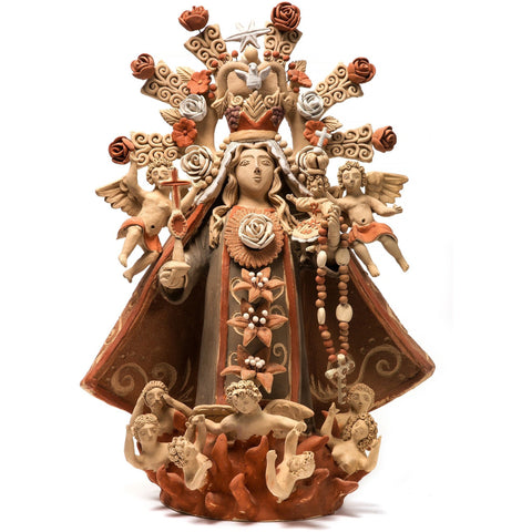 Virgen del Rosario / Ceramics Mexican Folk Art Clay