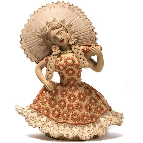 Muñeca Tehuana / Ceramics Mexican Folk Art Clay