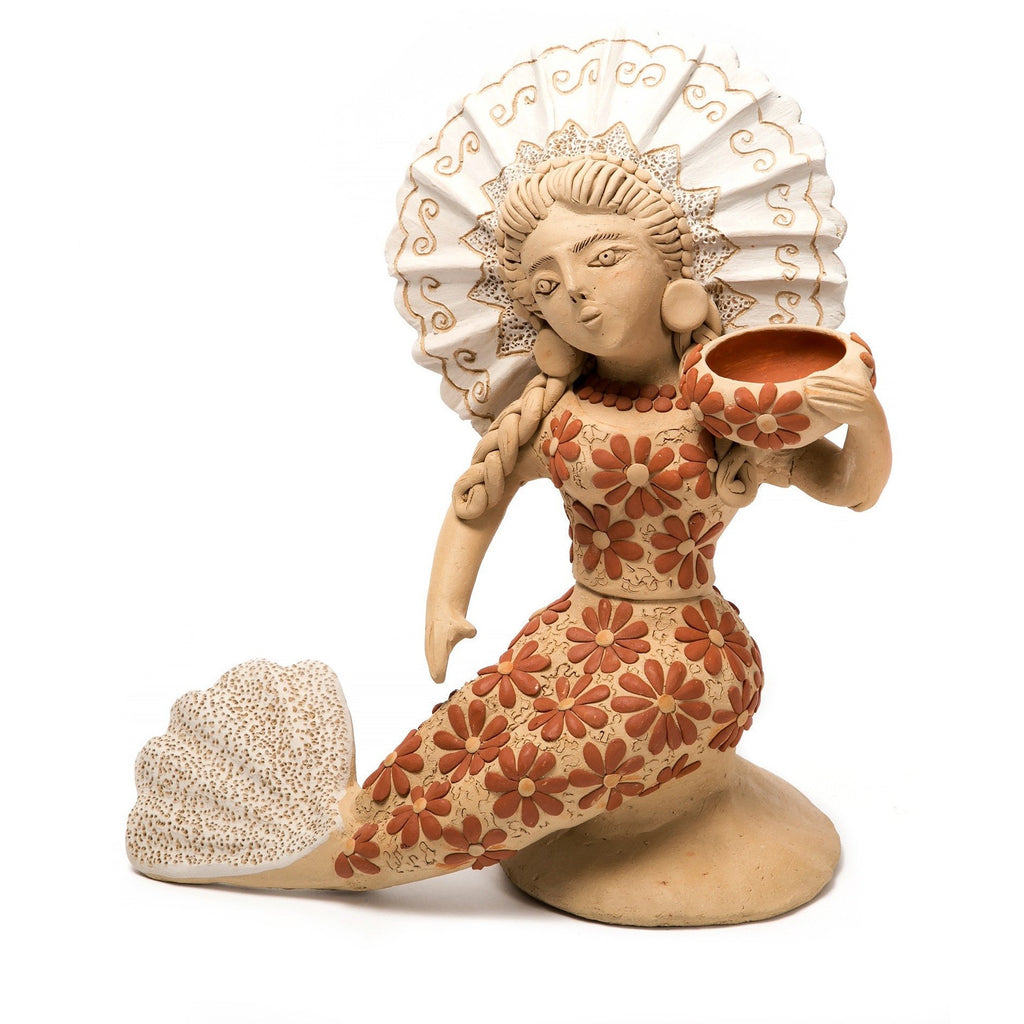 Sirena / Ceramics Mexican Folk Art Clay