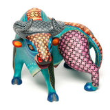 Elegancia Turquesa / Woodcarving Alebrije Mexican Folk Art Sculpture