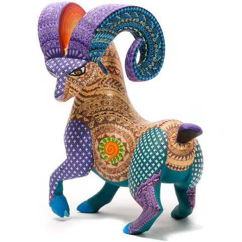 Cimarron Encantado / Woodcarving Alebrije Mexican Folk Art Sculpture