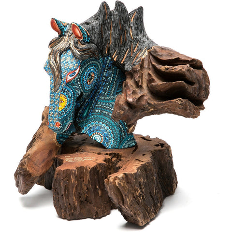 El Dia y la Noche / Woodcarving Alebrije Mexican Folk Art Sculpture
