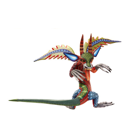 Dragon Fantastico - Fantastic Dragon Alebrije - Mexican Folk Art | Cactus Fine Art