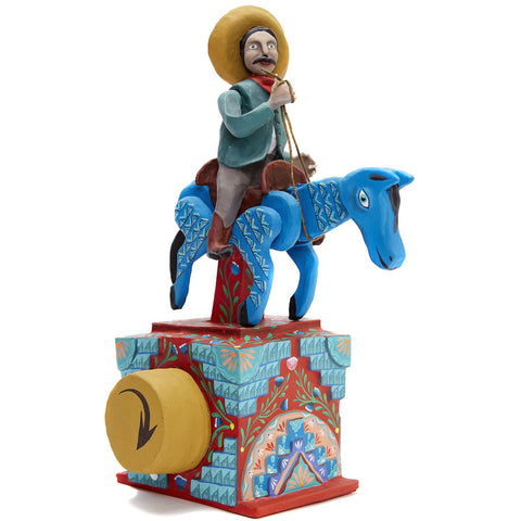 Charro / Mexican Mechanical Folk Art Carton Sculpture