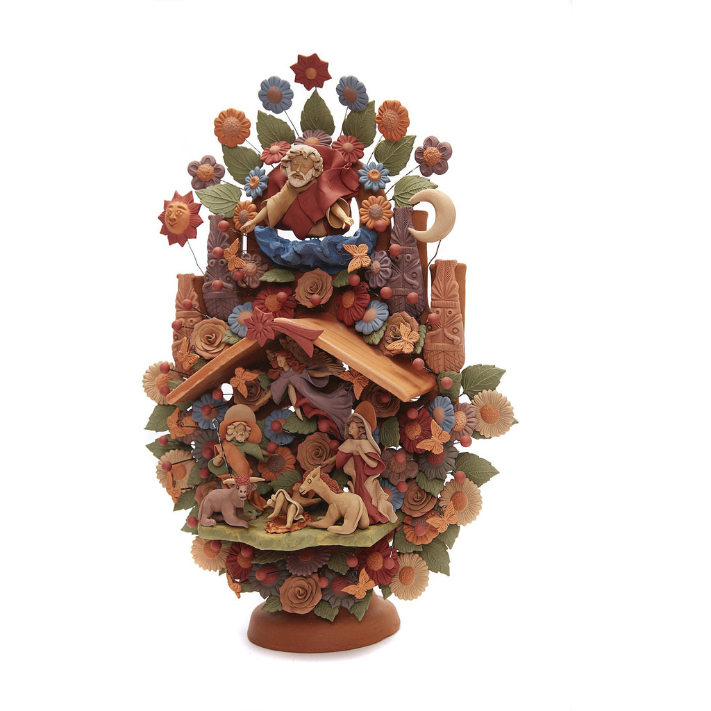 Arbol Nacimiento - Tree birth / Ceramics Mexican Folk Art Clay