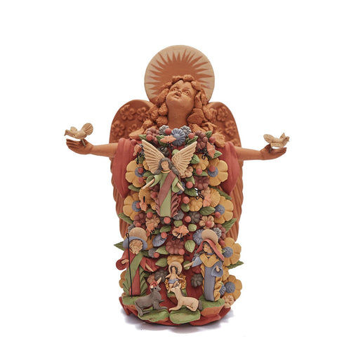 Angel Místico - Mistic Angel  / Ceramics Mexican Folk Art Clay