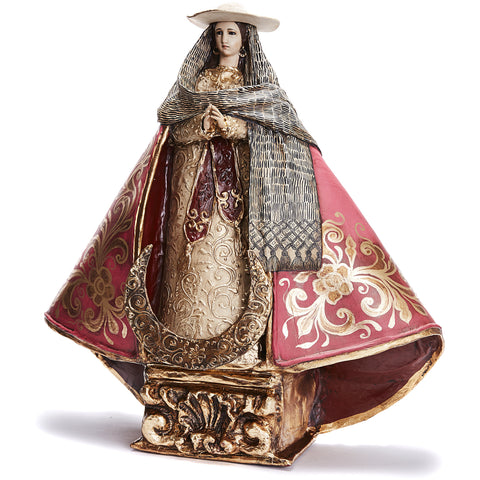 Virgen Peregrina - Crafts - Mexican Folk Art Clay - Cactus Fine Art