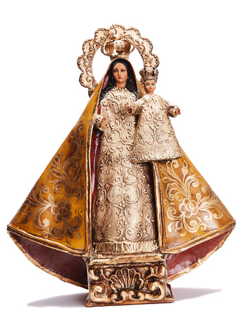 Virgen de la Caridad del Cobre - Crafts - Mexican Folk Art Clay - Cactus Fine Art