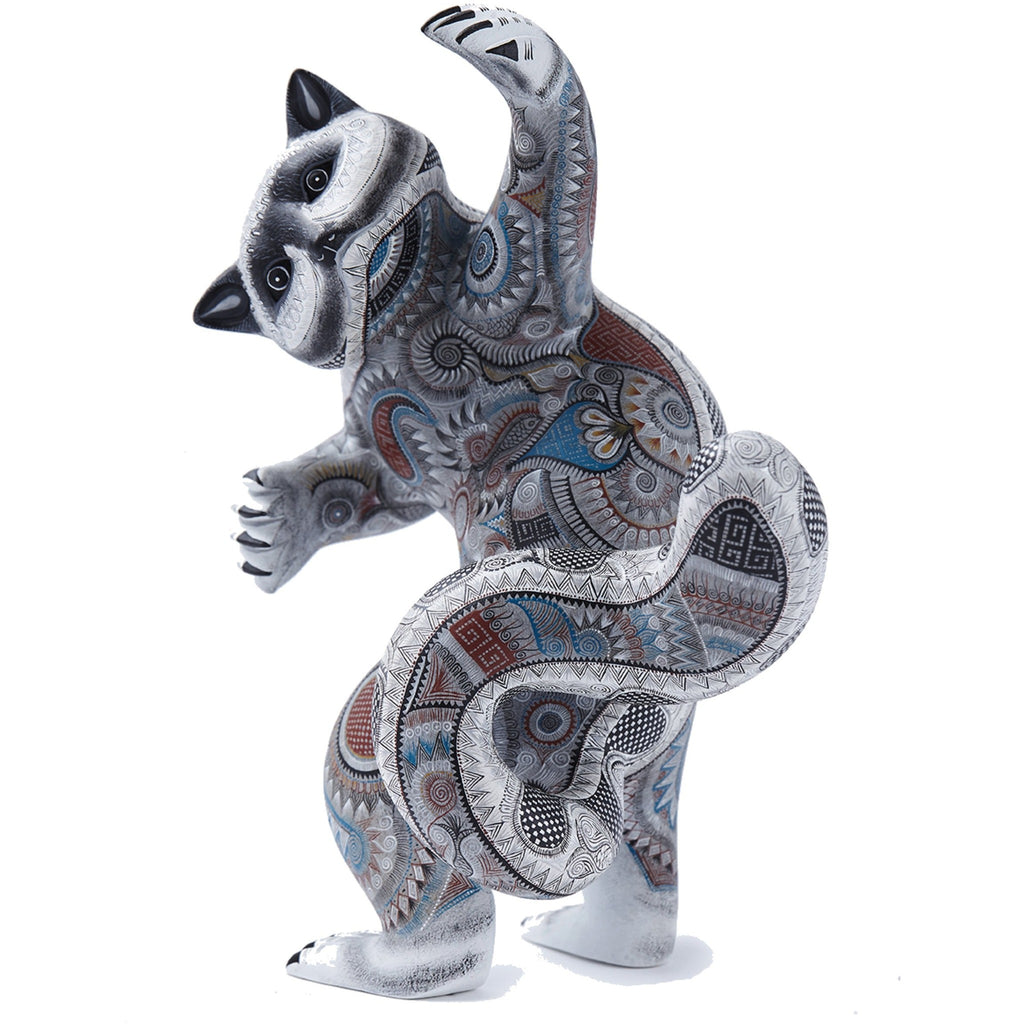 Mapache / Woodcarving Alebrije Mexican Folk Art Sculpture