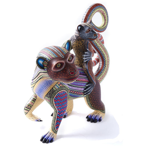 Madre e Hijo / Woodcarving Alebrije Mexican Folk Art Sculpture
