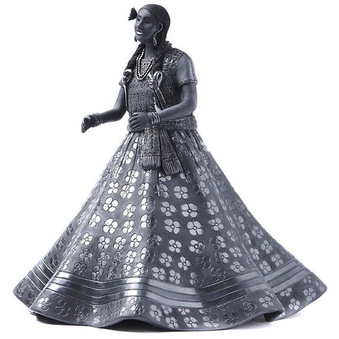 Traje Huajapan-Oaxaca / Ceramics Black Clay Mexican Folk Art