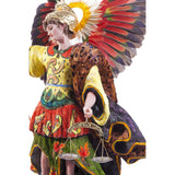 San Miguel Arcangel / Wax Sculpture Mexican Folk Art