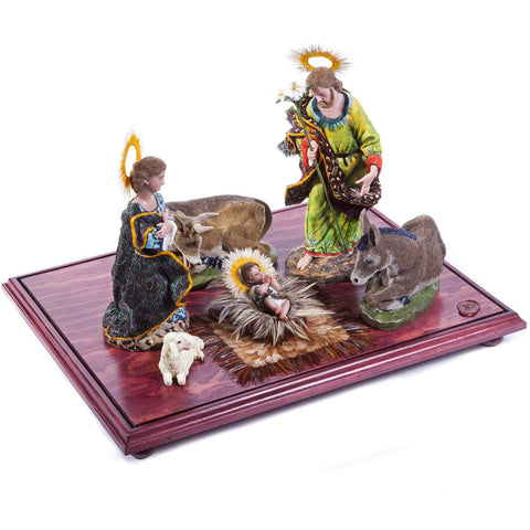 Nacimiento / Wax Sculpture Mexican Folk Art Nativity