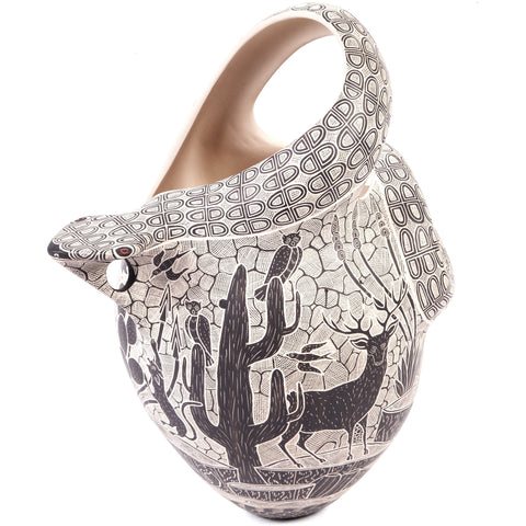 Vasija Serpiente / Ceramics Mexican Folk Art Mata Ortiz