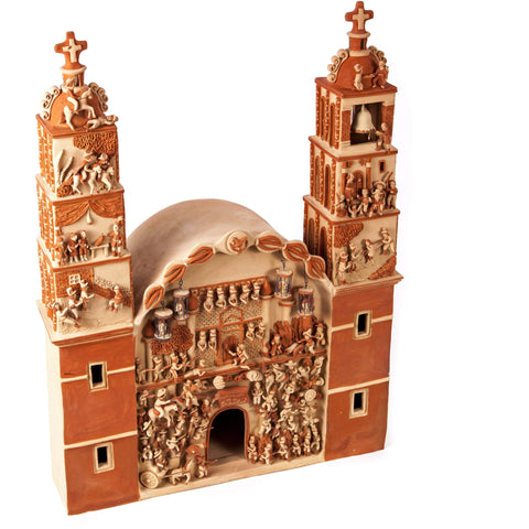 Iglesia Independencia de Mexico / Ceramics Mexican Folk Art Clay