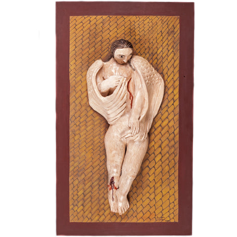 Angel Caido / Ceramics Mexican Folk Art Clay Frame