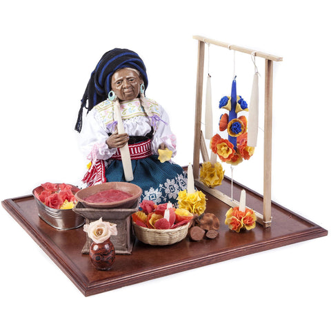 La Artesana / Wax Sculpture Mexican Folk Art