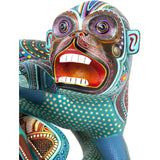 Mono Contento / Woodcarving Alebrije Mexican Folk Art Sculpture