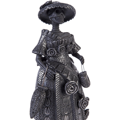 Catrina Oaxaqueña / Ceramics Black Clay Mexican Folk Art