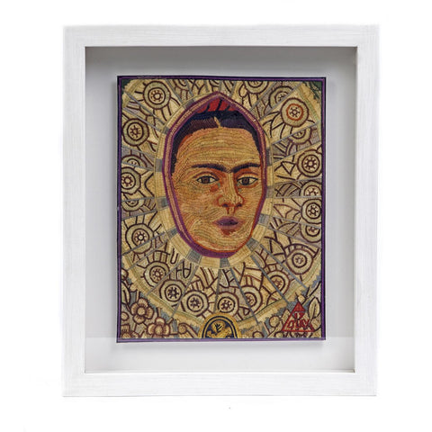 Autoretrato como Tehuana de Frida Kahlo / Vegetable Fibers Mexican Folk Art Straw