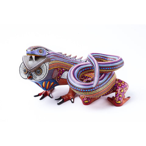 Fusion Vibora - Buho / Woodcarving Alebrije Mexican Folk Art Sculpture