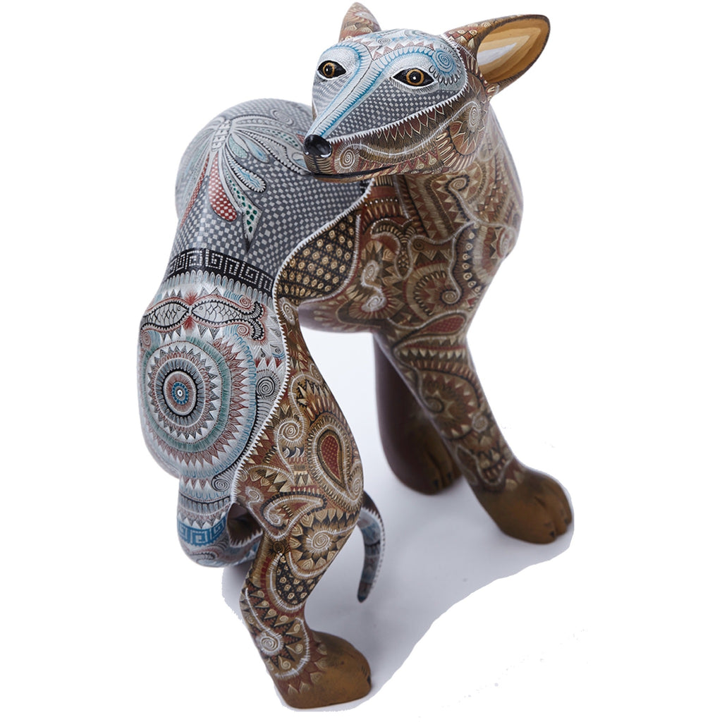 Perro / Woodcarving Alebrije Mexican Folk Art Sculpture