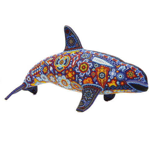 Vaquita Marina - Sea cow - Hand Beaded - Mexican Huichol Art - Mexican Folk Art | Cactus Fine Art