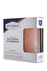 "Salt Block Cooking + 8x8x1.5"" Himalayan Salt Block Combo - Case Pack of 4"