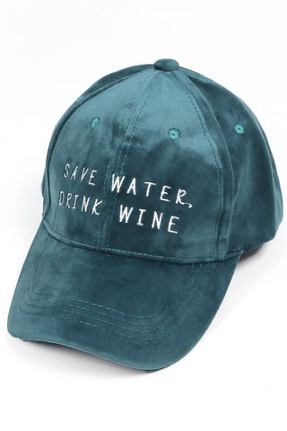 Save Water, Drink Wine Cap