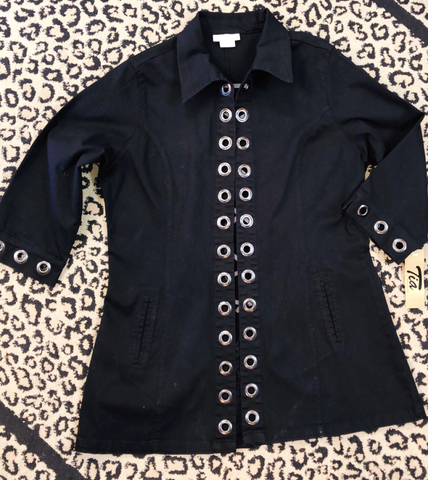 Tia Denim Black Jacket