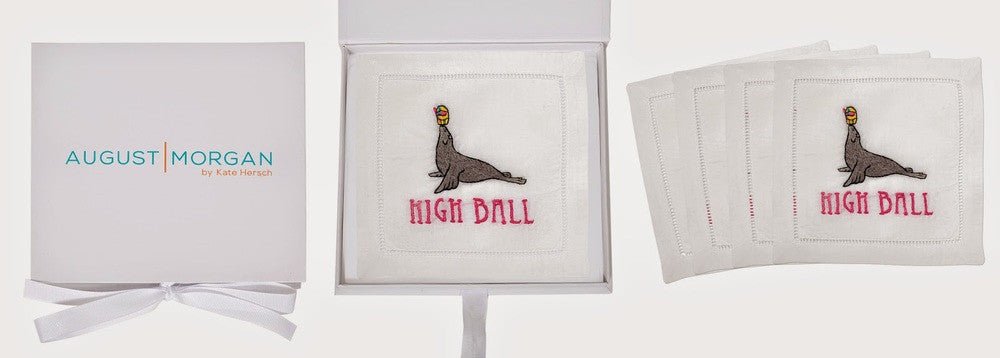 HIGH BALL COCKTAIL NAPKINS AND THE ANIMALS OF CALIFORNIA