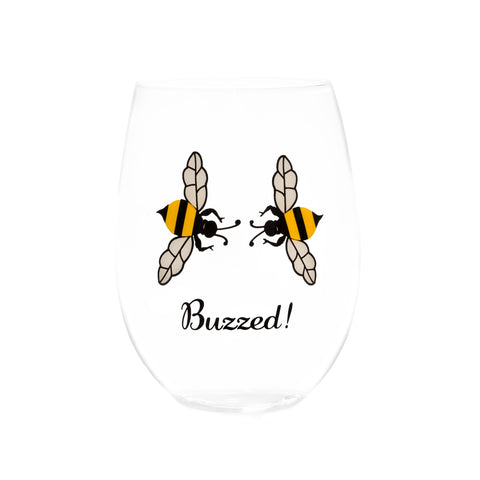 BUZZED STEMLESS WINE GLASSES