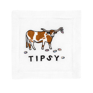 TIPSY LONGHORN COCKTAIL NAPKINS