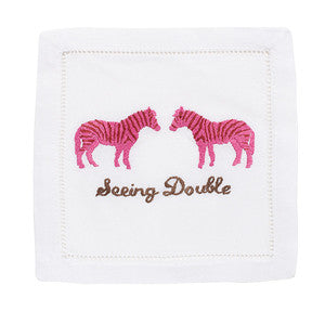 SEEING DOUBLE ZEBRA COCKTAIL NAPKINS
