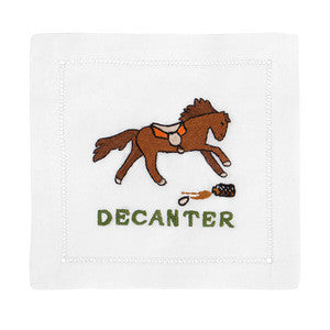 DECANTER HORSE COCKTAIL NAPKINS
