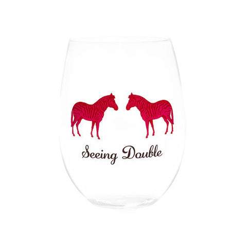 SEEING DOUBLE STEMLESS WINE GLASSES