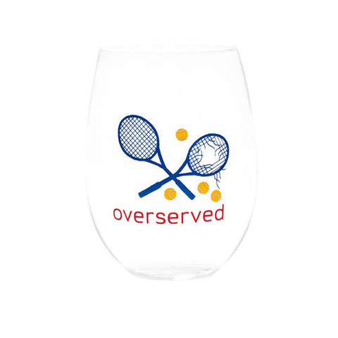 OVERSERVED - RWB STEMLESS WINE GLASSES