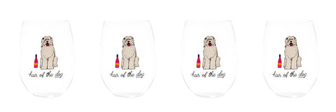 HAIR OF THE DOG STEMLESS WINE GLASSES