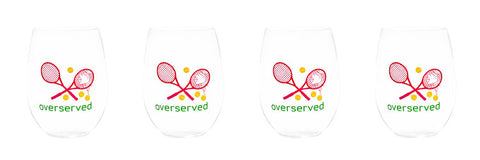 OVERSERVED - PINK STEMLESS WINE GLASSES
