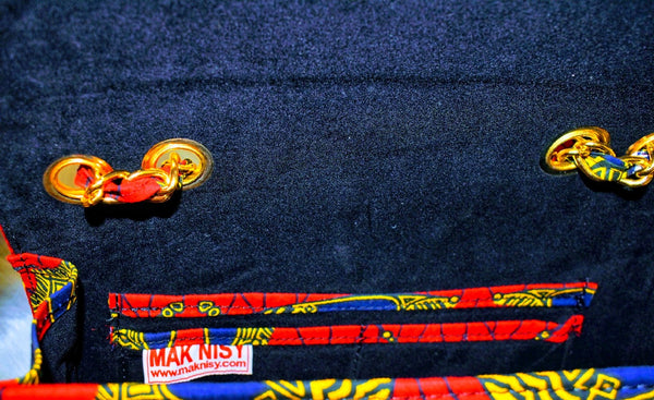 The MakNisy Ankara Satchel Purse