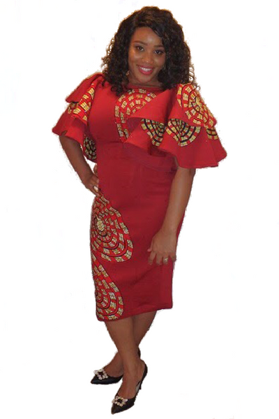 "The ""Dee Ankara Scuba"" Dress"