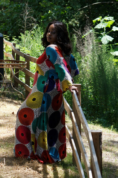 The Easy, Breezy Ankara Record Silk Dress