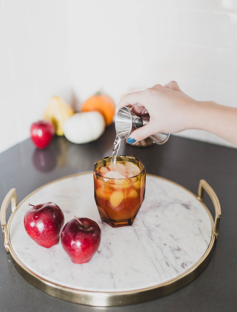 Dani Barbe Fall Harvest Cocktail with Club Soda