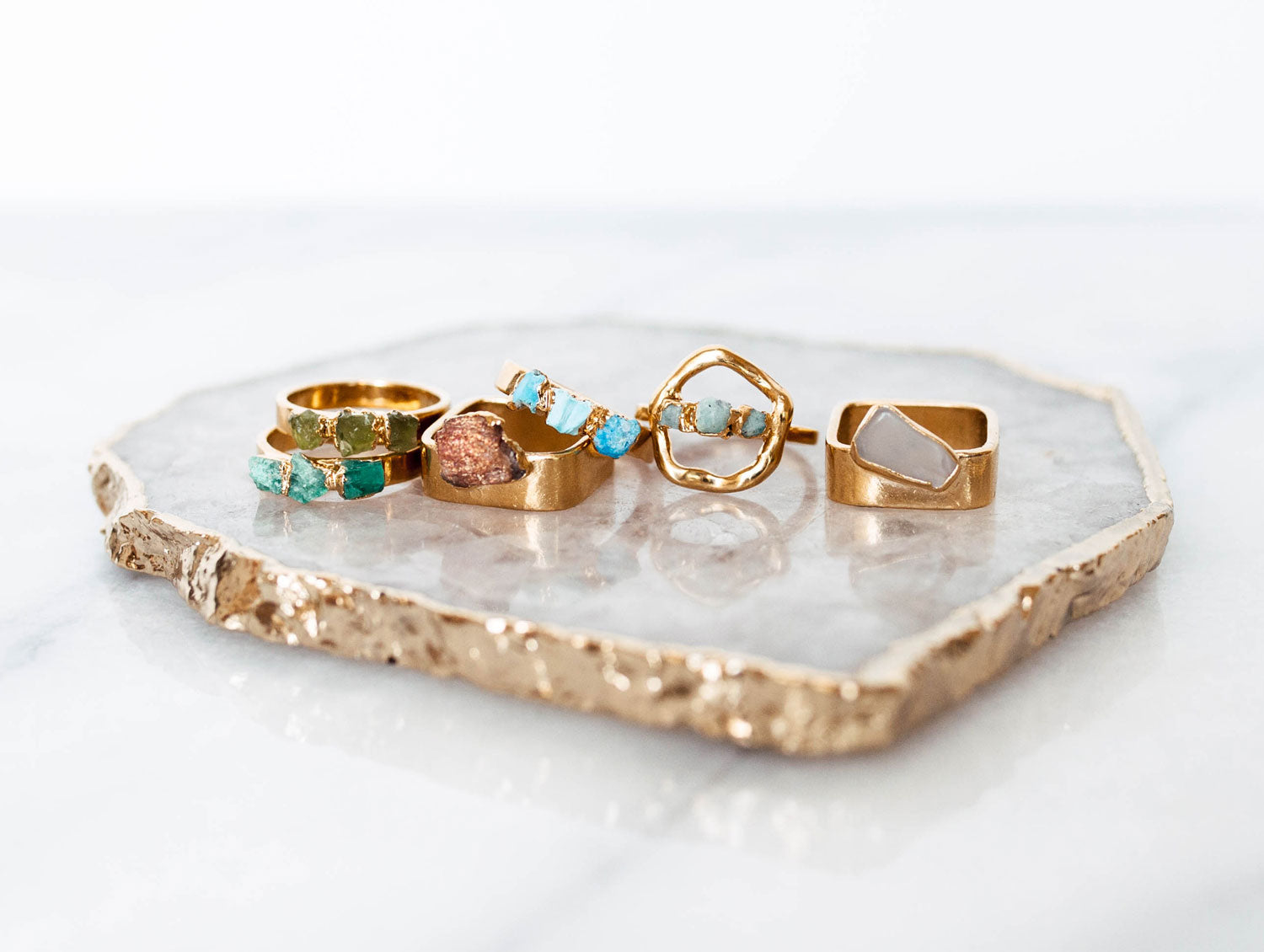 Dani Barbe Gemstone Rings