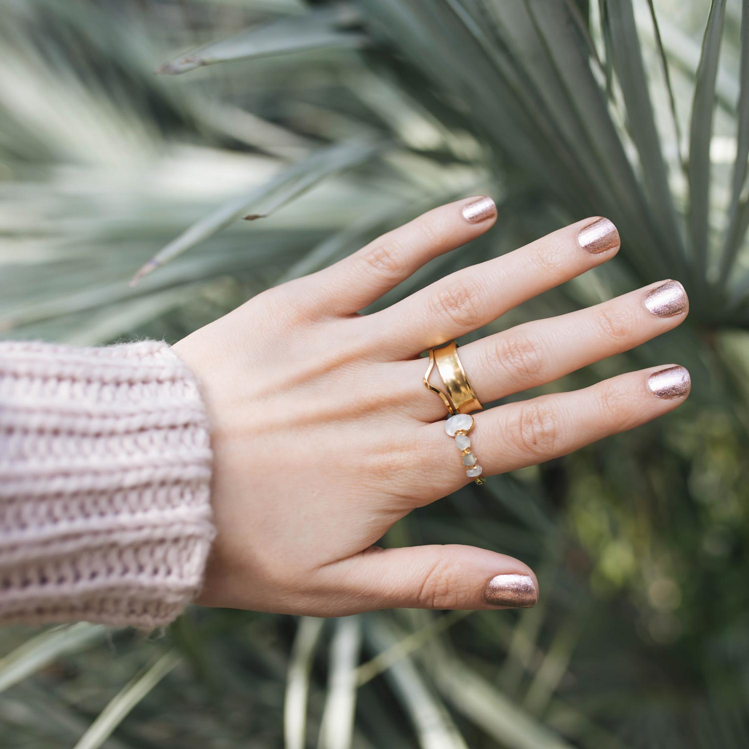 Dani Barbe Raw Moonstone Ring