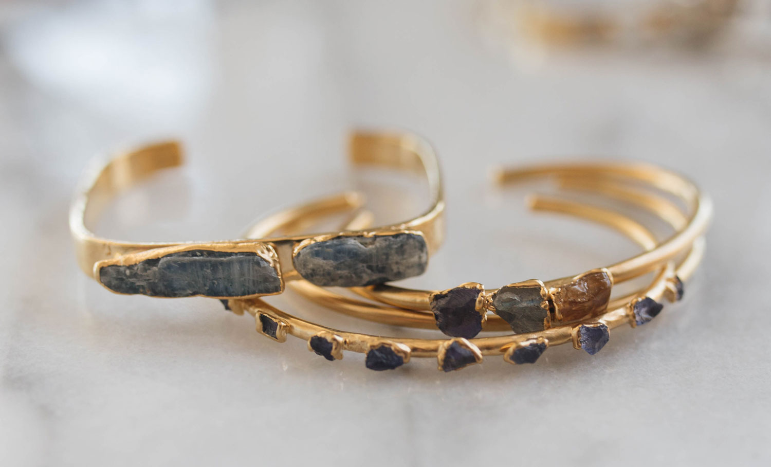 Dani Barbe Raw Crystal Bracelets