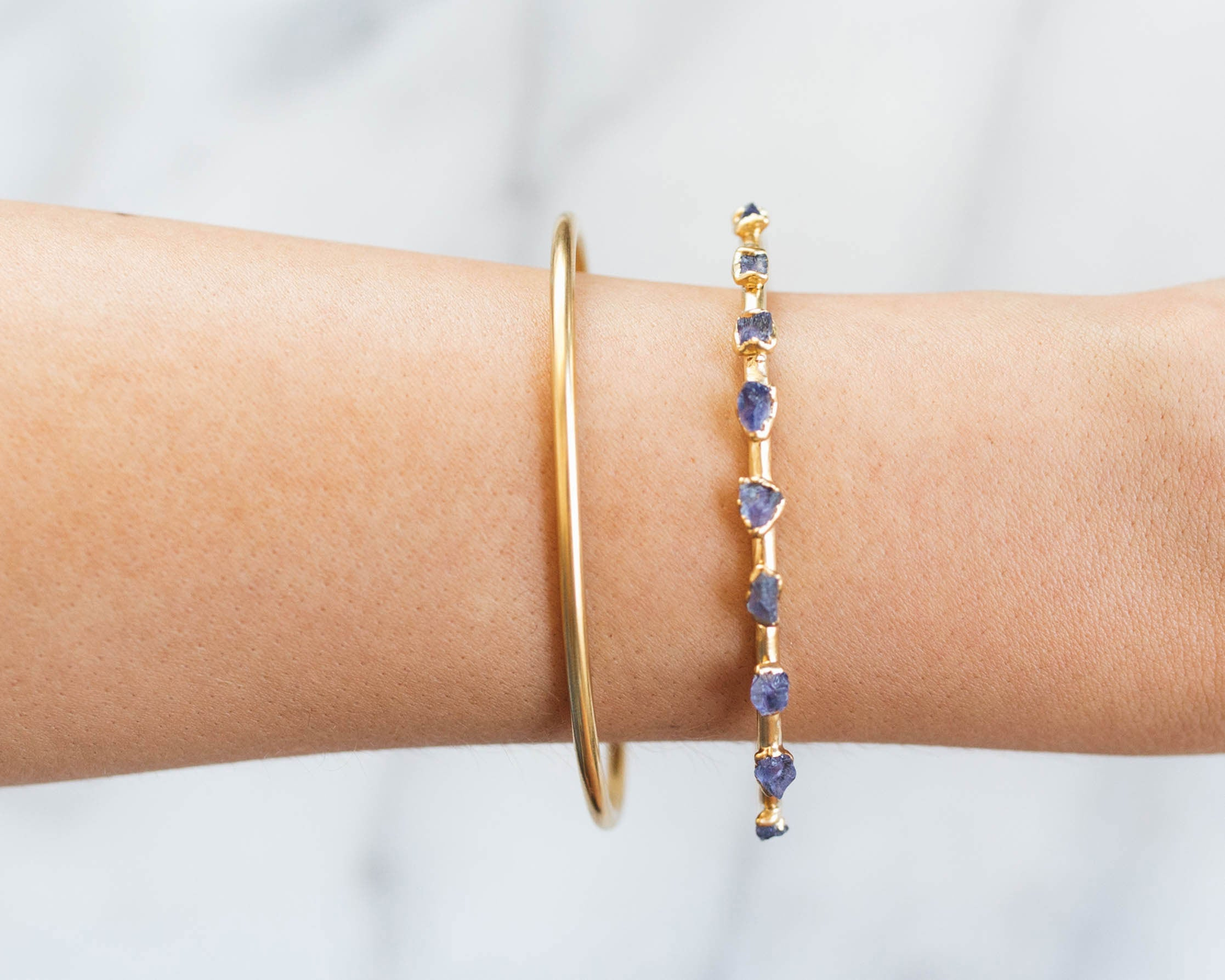 Dani Barbe Raw Gemstone Bracelets