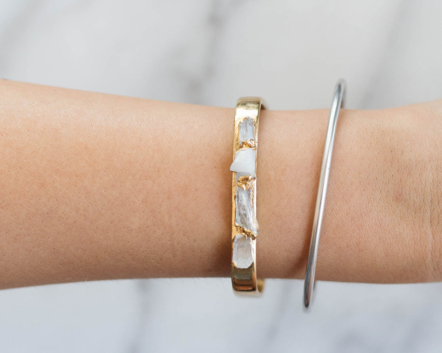 Dani Barbe Quartz Cuff and Classic Cuff
